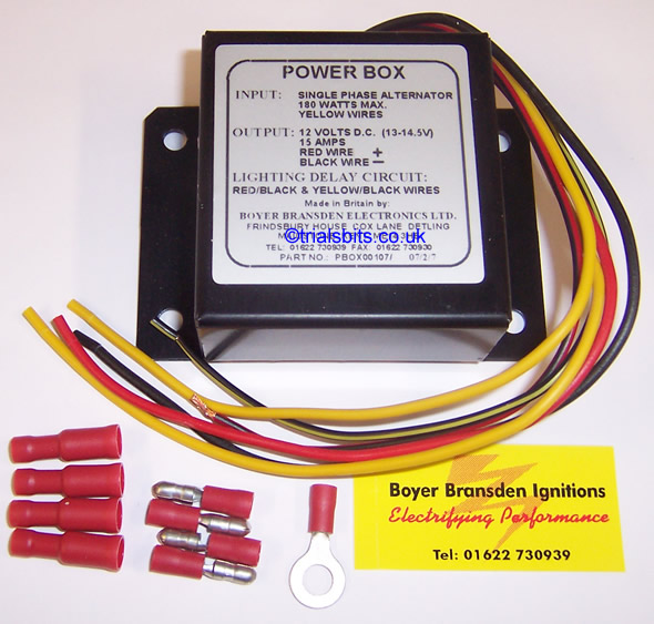 boyer bransden power box single phase with lighting delay rh trialsbits co uk Light Switch Wiring Diagram Light Switch Wiring Diagram
